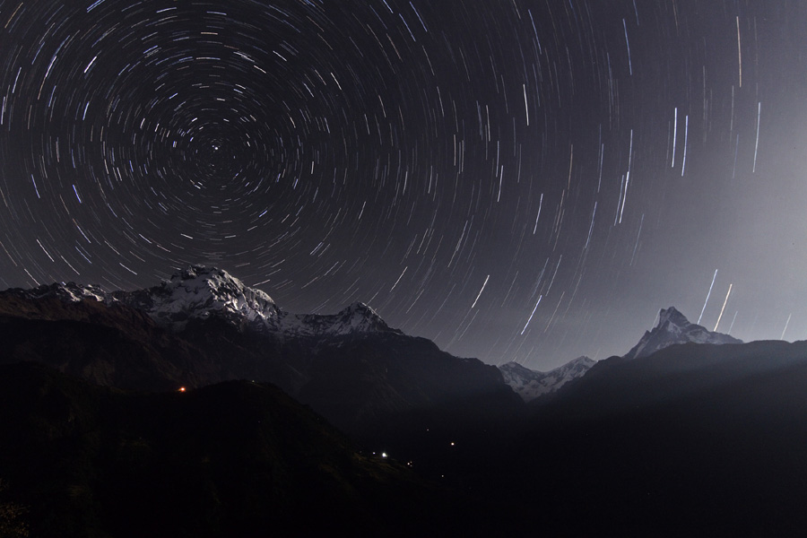 Annapurna Star Trails  Credit & Copyright: Wang Jinglei, Jia Hao